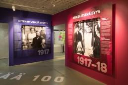 Hyvinkään kaupunginmuseon näyttely tila Willan Voimala – Hyvinkää 100 näyttely